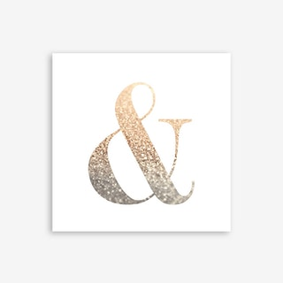 Ampersand Gold Art Print
