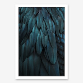 Dark Feathers in Art Print