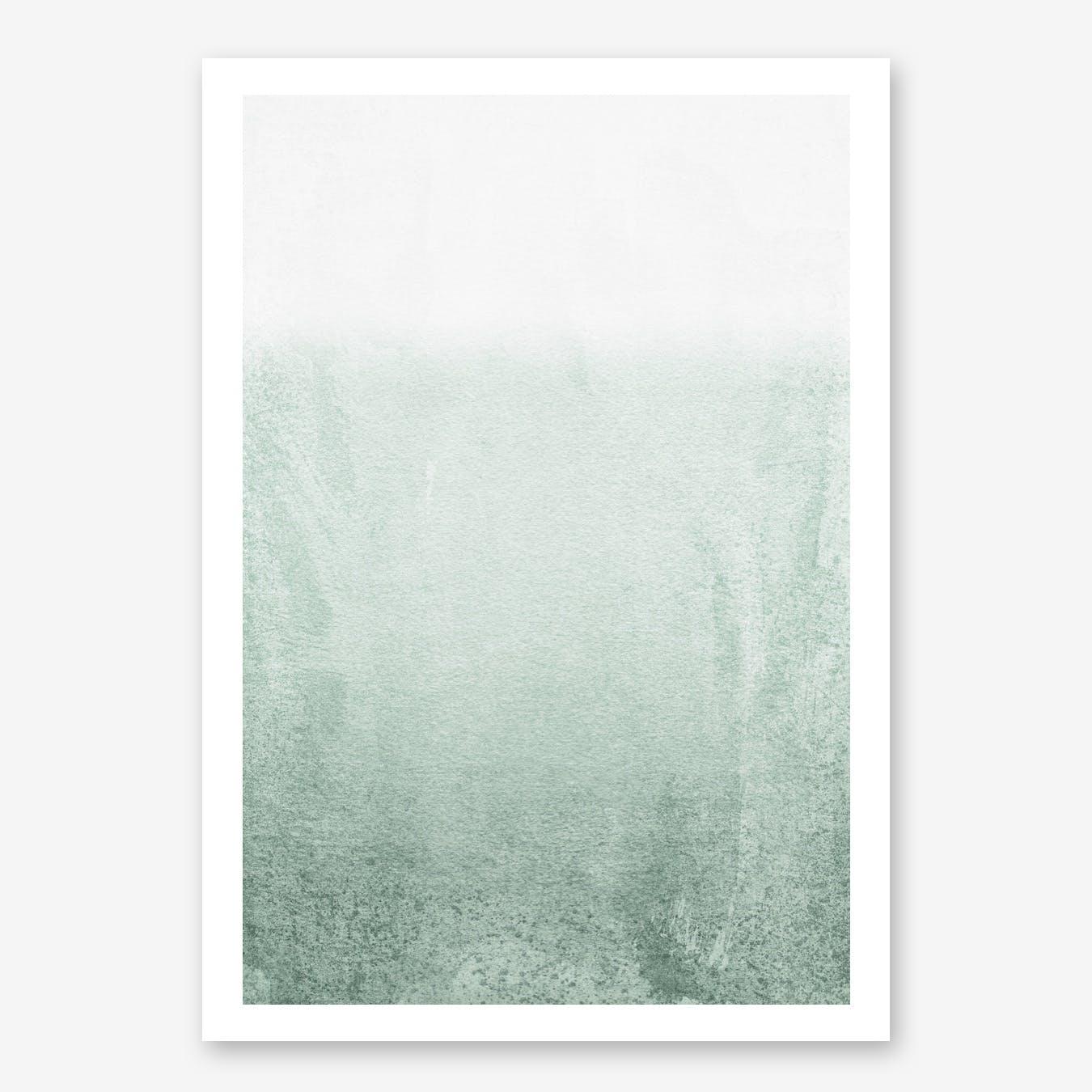 Fading Green Eucalyptus in Print