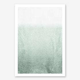 Fading Green Eucalyptus in Art Print