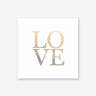 Gatsby Gold Love Art Print
