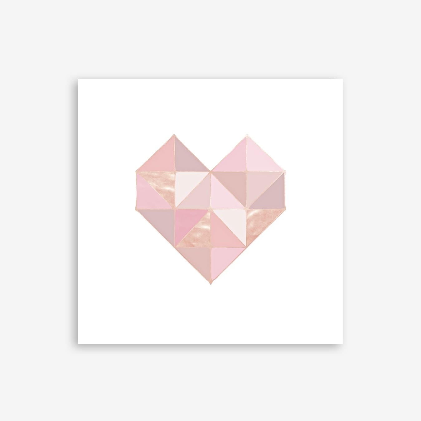 Geo Heart Rose