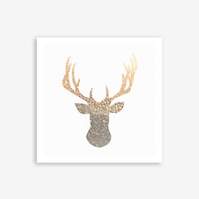Gold Deer Art Print