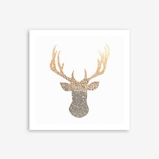 Gold Deer Art Print