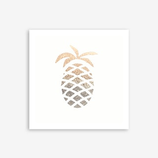 Gold Pineapple Art Print