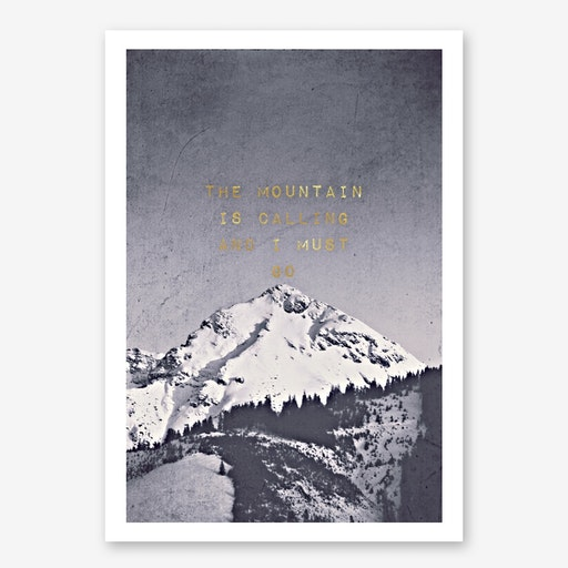 Mountain is Calling Black in Print