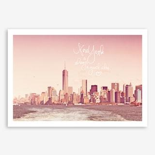 New York Skyline Rose in Art Print