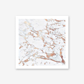 Rosegold and Marble Art Print