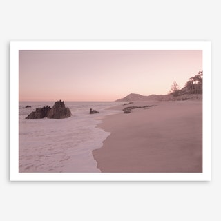 Rosegold Beach in Art Print