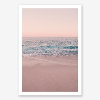 Rosegold Beach Morning in Art Print