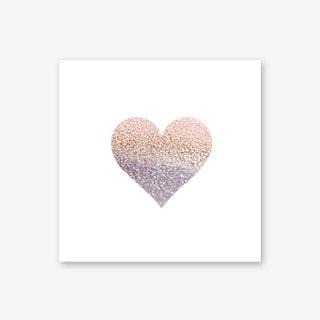 Rosegold Heart Art Print