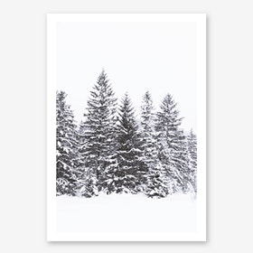 Black Winter Trees in Art Print