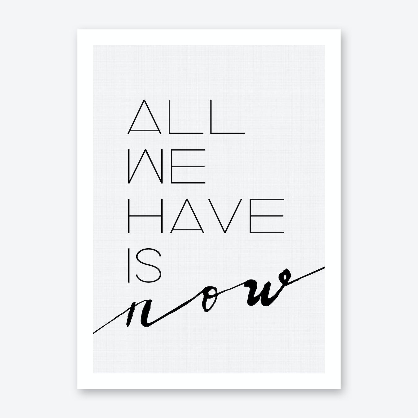 All We Have Is Now Print