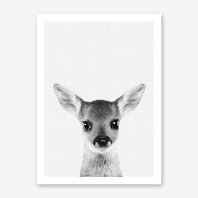 Fawn Portrait Art Print