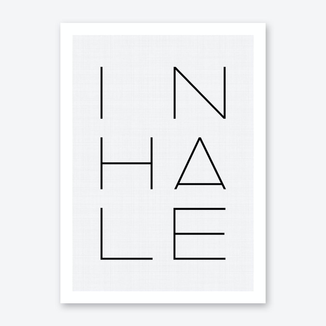 Inhale Print
