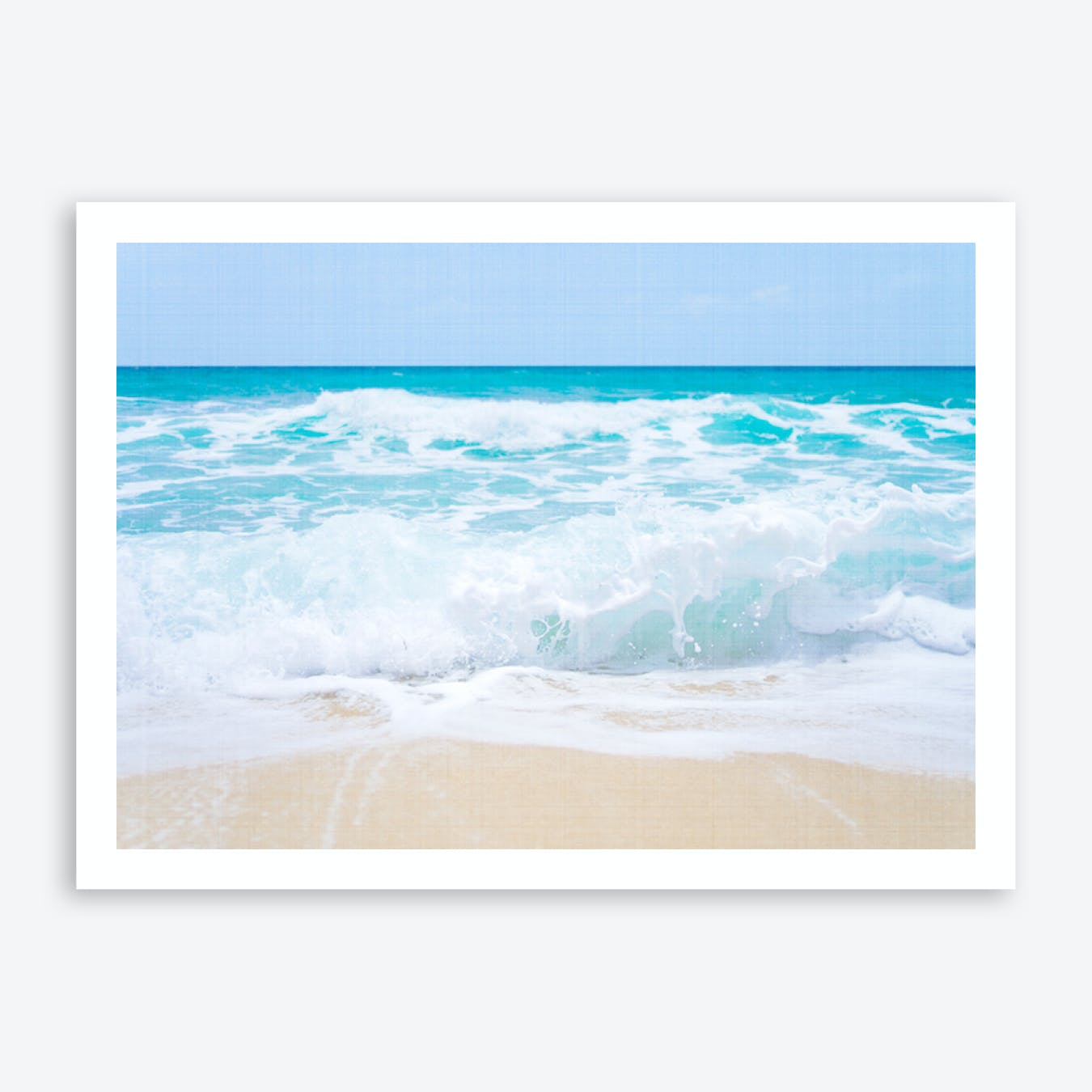 Ocean Waves 2 Canvas Look Print