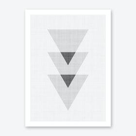 Triangles 1 Art Print