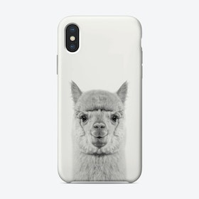 Alpaca B&W iPhone Case