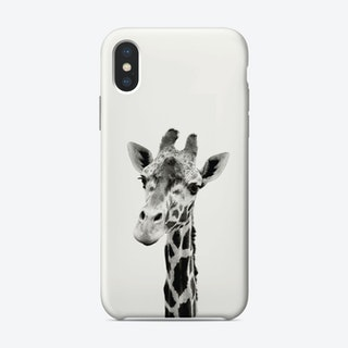 Giraffe B&W iPhone Case