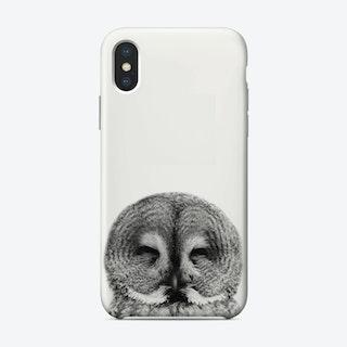 Owl B&W I iPhone Case