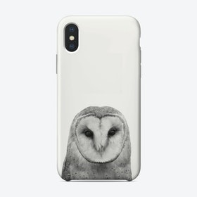 Owl B&W II iPhone Case