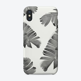 Palm Leaves B&W iPhone Case