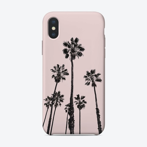 Palms in Pink iPhone Case