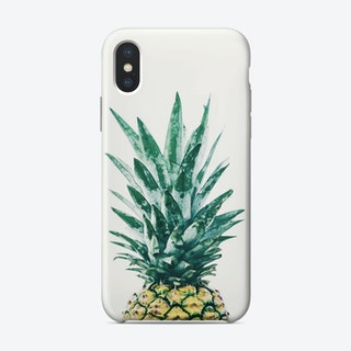Watercolor Pineapple I iPhone Case