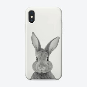Rabbit B&W iPhone Case