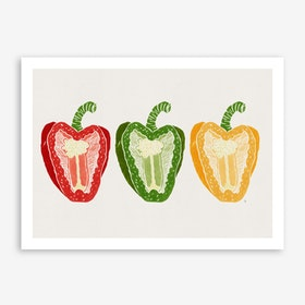 Mixed Peppers in Art Print