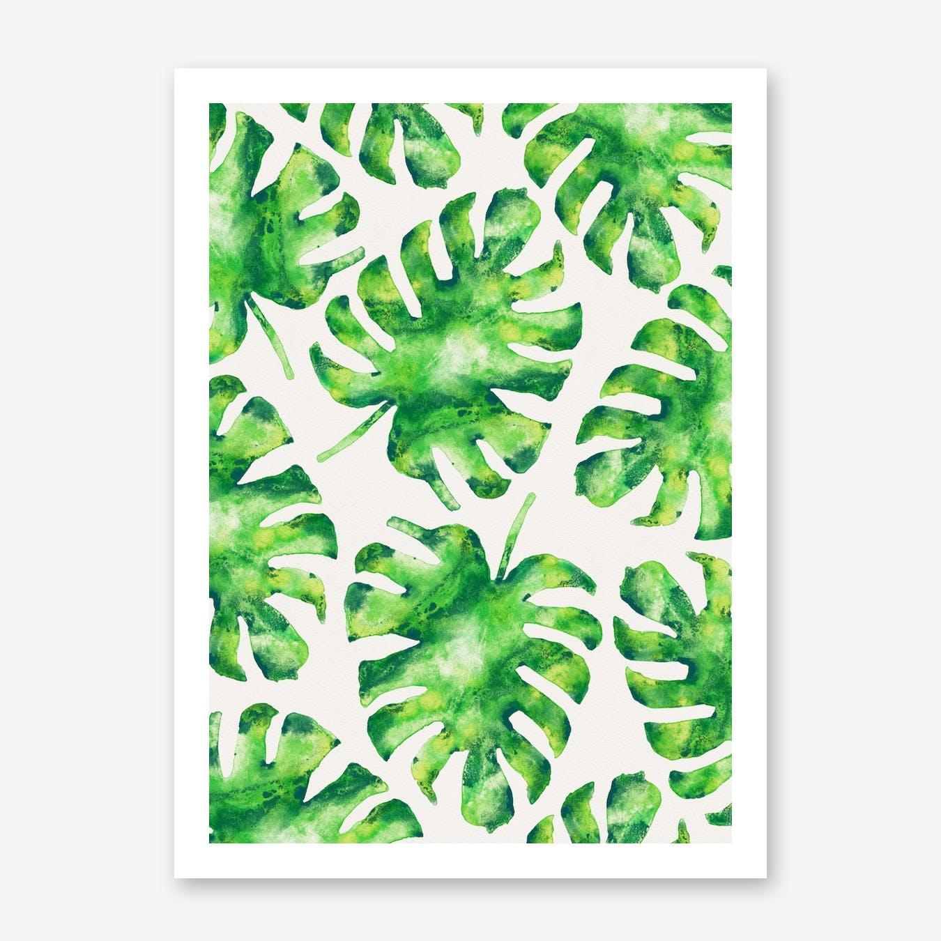 Monstera Leaves in Print