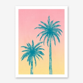 Palm Trees in Art Print