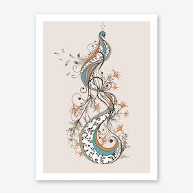 Peacock in Art Print