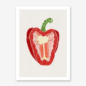 Red Pepper in Art Print