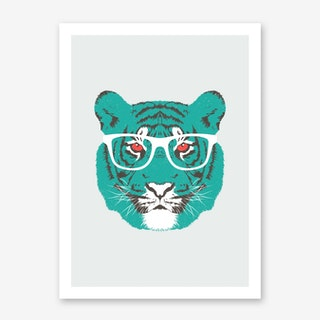 Bookish Big Cat in Art Print