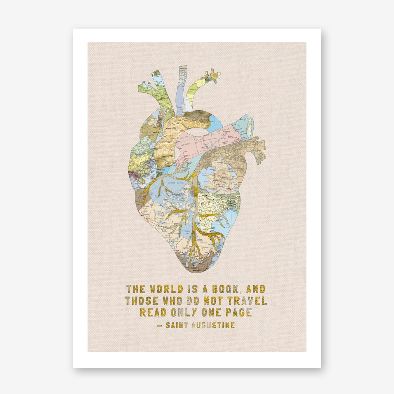 A Traveller's Heart + Quote in Print