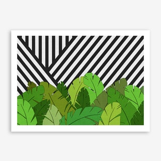 Green Direction in Art Print