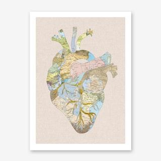 A Traveller's Heart in Art Print