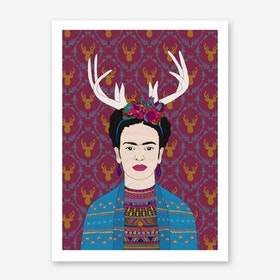 Deer Frida in Art Print