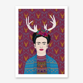 Deer Frida in Art Print