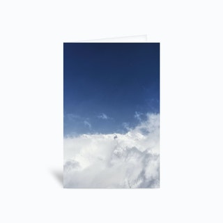 Above The Clouds Greetings Card
