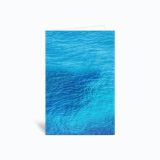 Bluest Blue Greetings Card