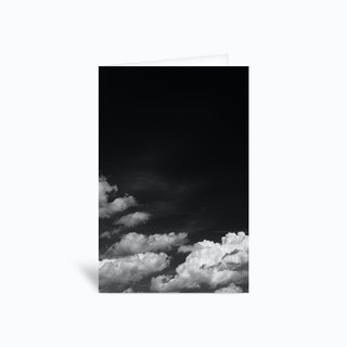 Black Sky Greetings Card