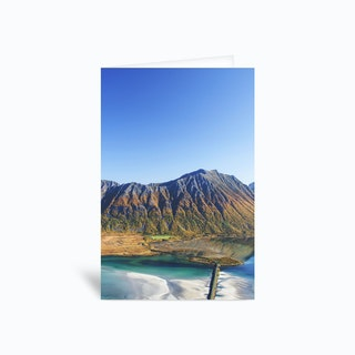 Hiking with a View Greetings Card