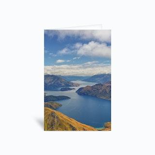 Roys Peak Lookout 2 Greetings Card