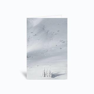 Planet Snow 1 Greetings Card