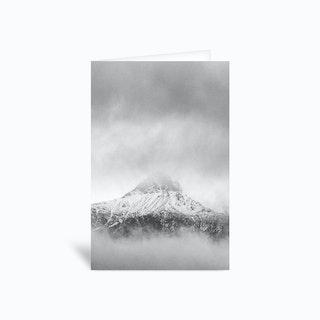 Peak In The Clouds Greetings Card