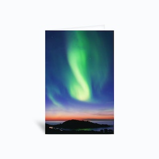 The Northern Lights 01 Greetings Card