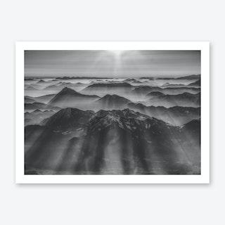 Balloon Ride Over the Alps I Art Print