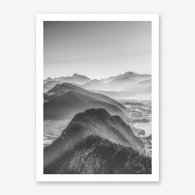 Balloon Ride Over the Alps III Art Print
